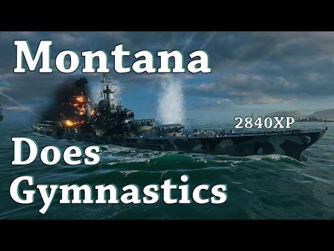 WoWS: Montana Does Gymnastics [2840XP]