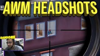 AWM and 8X Headshots | RAWKNEE SNIPING | PUBG MOBILE HIGHLIGHTS