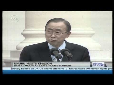 President Kenyatta hosts United Nations Secretary General Ban Ki Moon in statehouse