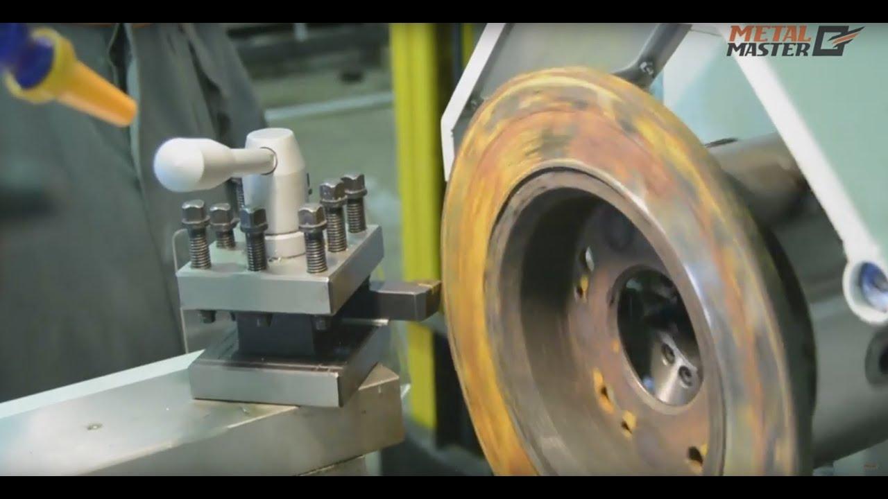 Как проточить тормозной диск на токарном станке - YouTube