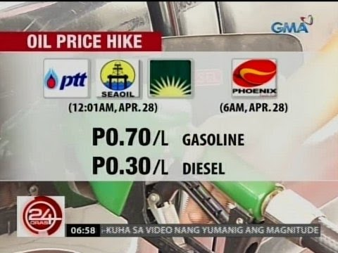 24 Oras: Panibagong bugso ng oil price hike, ipatutupad bukas