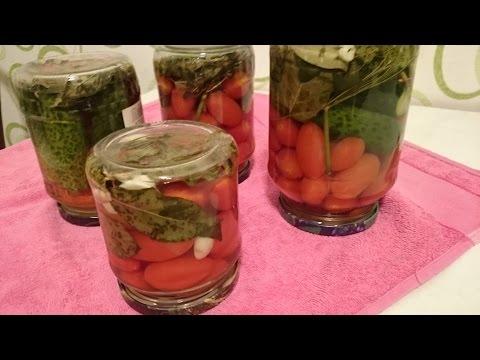 Как приготовить помидоры на зиму - видео