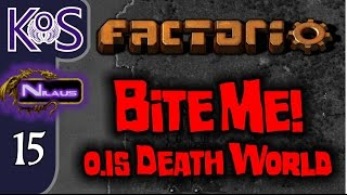 Factorio 0.15 Bite Me! Ep 15: Fixing Mistakes & Clearing Copper - Death World COOP MP Gameplay