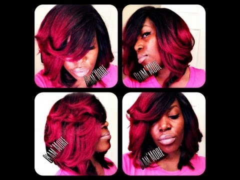 Michelle Inspired (Red Ombre) Quickweave Part 2