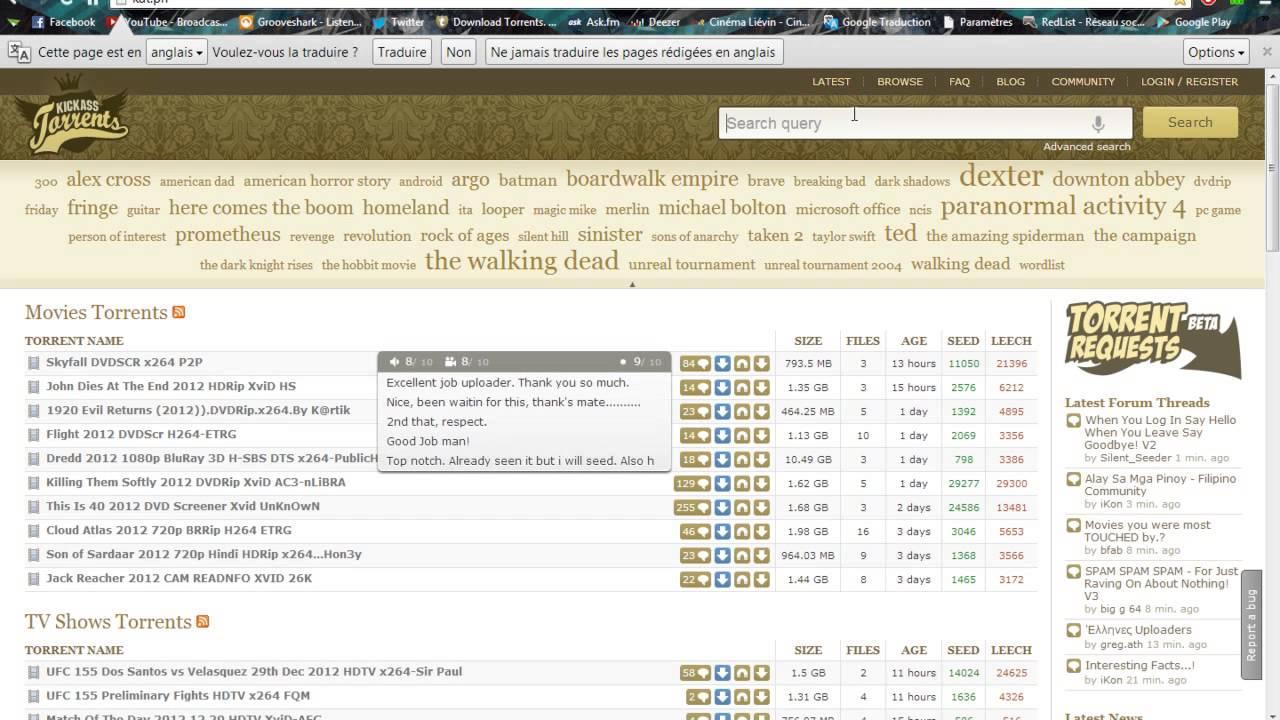 Download torrents kickass / Test server vulnerability