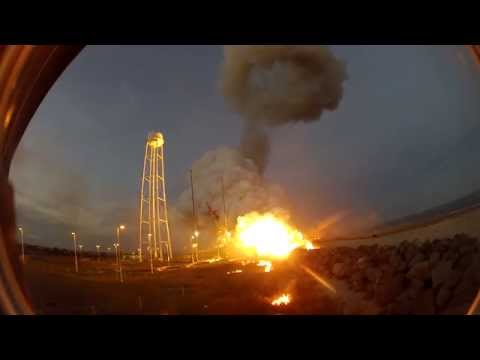 GoPro Hero Camera Captures Awesome Sight Of Antares Orb-3 Rocket Explosion.