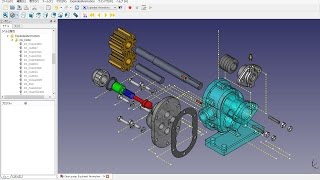 FreeCAD 0.15 (4639) Exploded Animation No.04