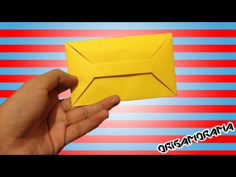 C mo hacer un sobre para cartas sin pegamento - Como se hace manualidades ...