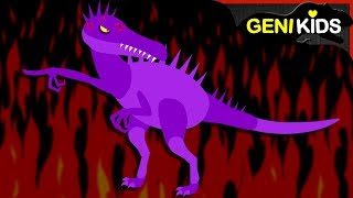 ▶Genikids Dino Movie◀ #18 DINOSAURS on Fire | Dinosaurs Short Cartoon for Kids