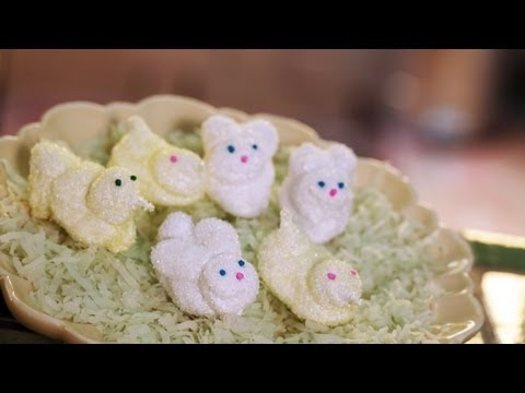 Homemade Marshmallow Bunnies || KIN EATS