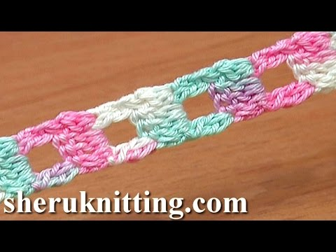 Crochet Stitches With Holes : ... Square Holes Tutorial 11 Two-Double Crochet Cluster Stitch - YouTube