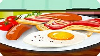 Cooking Eggs With Bacon - How To Make Delicious Calorie Breakfast ♥ Baby Games To Play