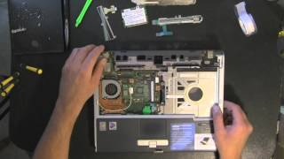 FUJITSU S7020 laptop take apart video, disassemble, how to open