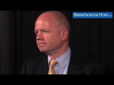 William Hague MP talks to the Birmingham Post