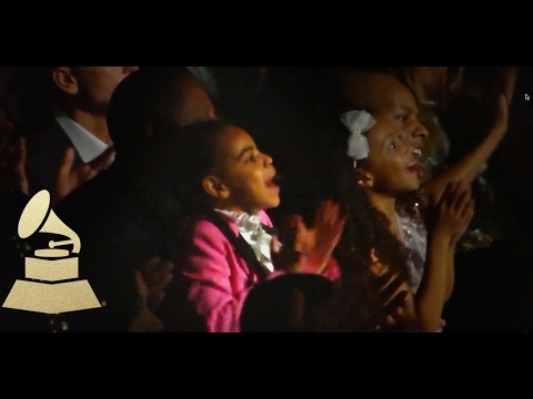 Jay Z & Blue Ivy React to Beyonce Performance | Audience Cam | 59th GRAMMYs