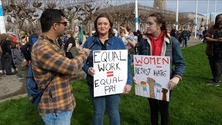 Interviewing People At Womens March 2019