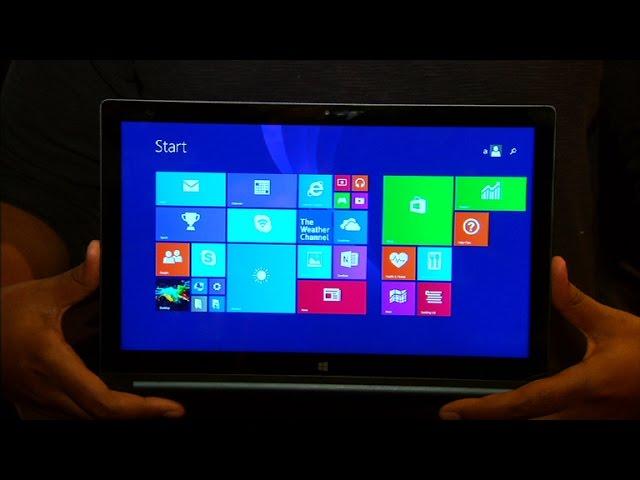 The 13-inch Lenovo Yoga Tablet 2 has a quad-HD display and runs Windows 8