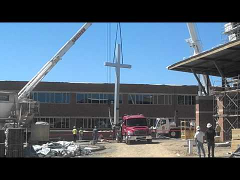 Bishop McDevitt High School Cross Erection