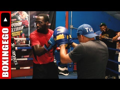 Terence Crawford Complete Mitt Workout UNEDITED; Bud Bodies Pads looks fast as hell and sharp