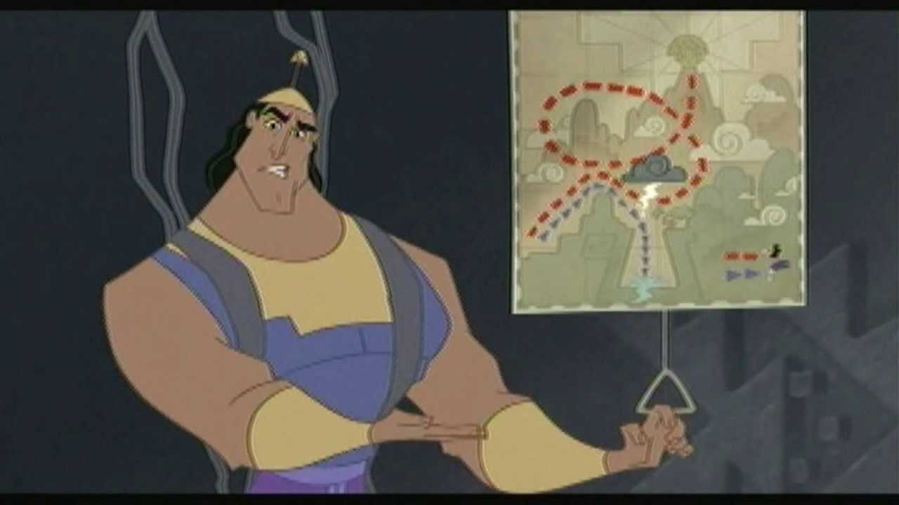 Kronk Carrying Yzma Away From Yzma And Kronk