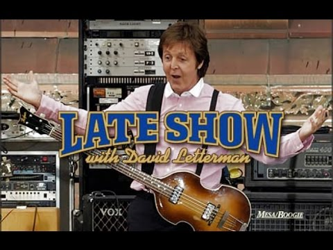 Paul McCartney on David Letterman Show Interview & Rooftop Performance