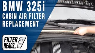How to Replace Cabin Air Filter 2004 BMW 325i