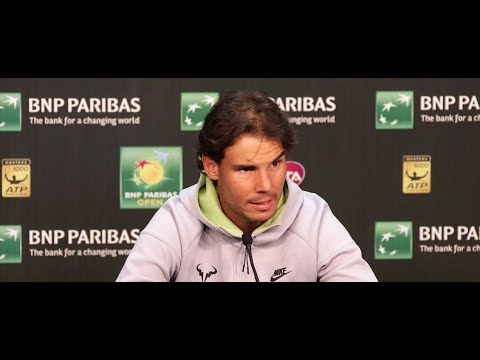 [Indian Wells BNP Paribas Open] Rafa Nadal paying tribute to the great Roger Federer