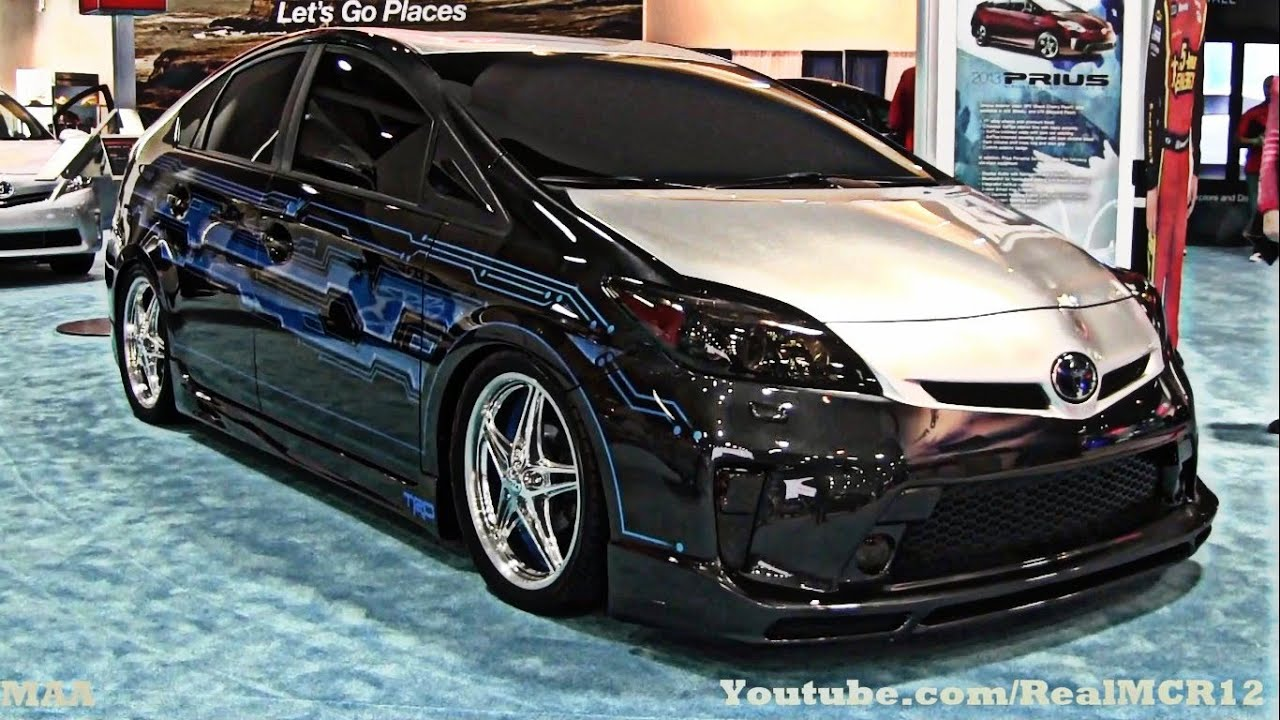 Blacked Out Camry >> Pimped Out Toyota Prius - Washington Auto Show 2013 - YouTube