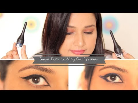 #JustLaunched Sugar Born To Wing Gel Eyeliners Review & Eye looks | Black & Blue