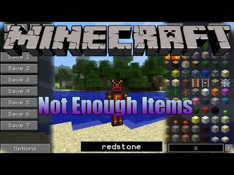 Minecraft 1.5.2 - Descargar e instalar Not Enough Items MOD [HD]