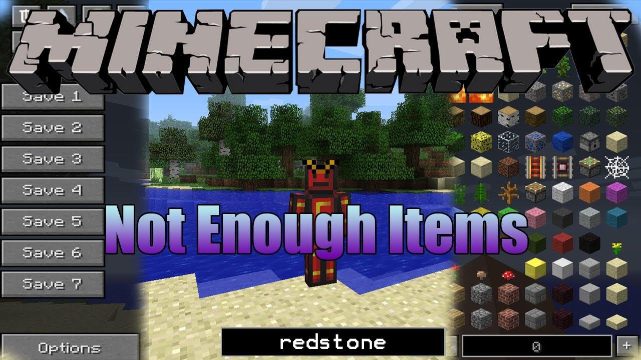 Мод Not Enough Items для Minecraft 1.7.10/1.7.2/1.6.4