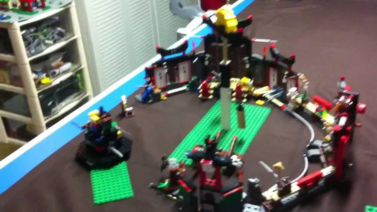 Lego ninjago temple aux armes d 39 or youtube - Lego ninjago d or ...