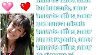 Amor De Niños Letra Danna Paola