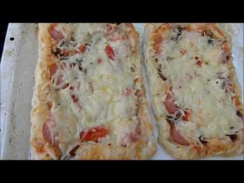 Пицца из слоеного теста за 20 минут. Рецепты приготовления пиццы