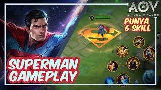 Superman - Has 6 SKILL !! NO Mana  -  Arena of Valor (AOV)
