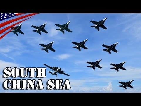 John C. Stennis Strike Group Air Power Demonstration in South China Sea - 南シナ海での米空母打撃群のパワーデモンストレーション
