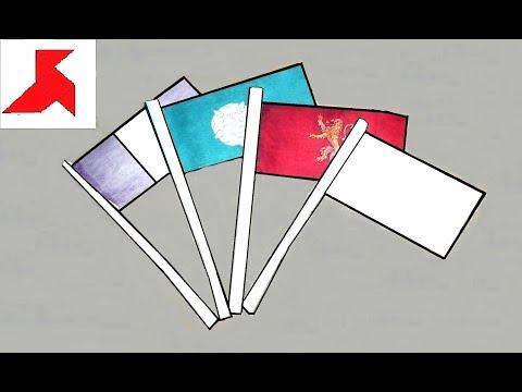 DIY - Как сделать ФЛАЖОК на палочке из бумаги А4 своими руками?