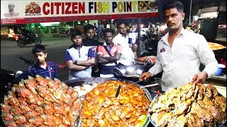 Citizen Fish Point for Day 500 Fishes Selling Plate @ 30 rs | Boneless FishFry | HyderabadStreetFood