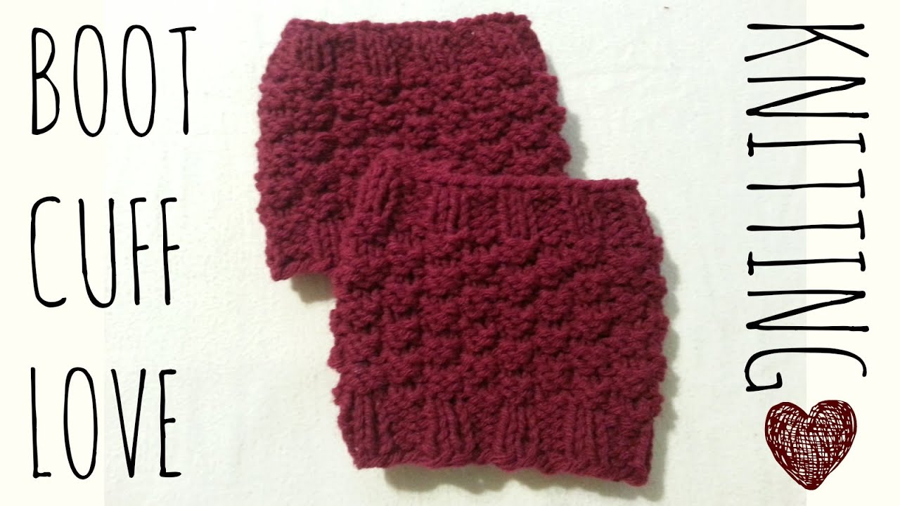 Boot Cuff Love Easy Knit Pattern Knitting Accessories Tutorial ...