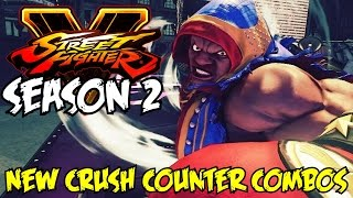 Street Fighter V [Season 2] Balrog New Crush Counter Combos