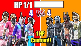 1 HP custom room Fight In 4 vs 4🔥😍//Full Masti👌😂