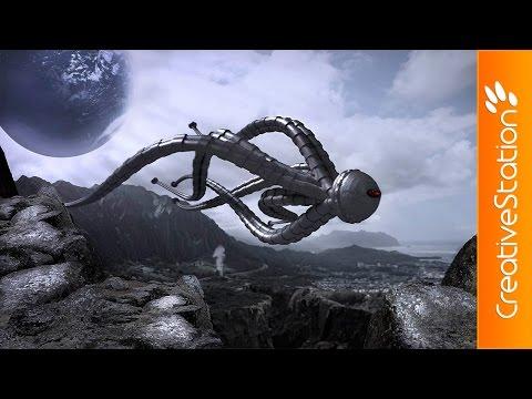 Alien dawn - Speed art (#Photoshop) | CreativeStation