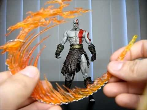 Neca God Of War Kratos Flaming Blades Athena Figure