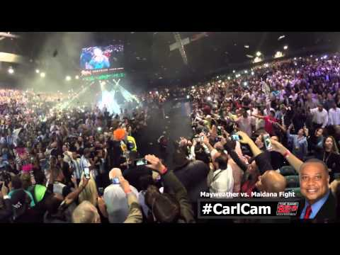 Carl Dukes CarlCam Footage From Inside The Mayweather Maidana Fight