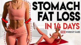 STOMACH FAT LOSS & ARMS in 14 Days | Free Home Workout Guide