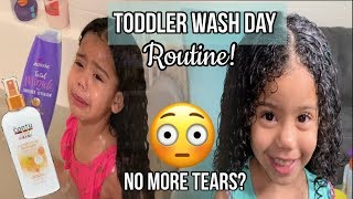 Toddler's Curly Wash Day Routine! | I Tried Following Naptural85's Wash Routine For Kids...!
