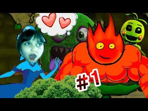 ПРИКЛЮЧЕНИЯ ОГОНЬ и ВОДА в Лесном храме #1 Развлекательное видео для детей Игровой мультик Валеришка