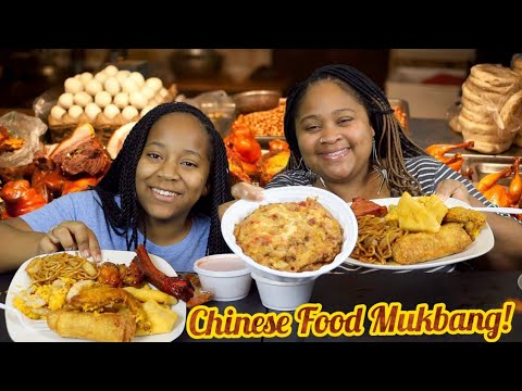 Chinese Food Mukbang! Egg Foo Young|Fried Chicken Wings|Shrimp Fried Rice