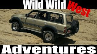 "4x4 Toyota land cruiser 80 rc scale funny adventures ""Wild Wild West""part II"
