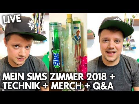 Mein Sims Zimmer 2018: Roomtour + Technik + Merch + Q&A | Instagram LIVE Stream